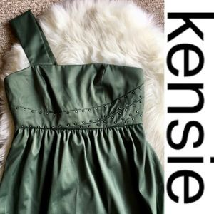 Kensie Dresses - Green One Strap Embellished KENSIE Mini Dress